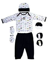 Mee Mee Pampering Present for New Born - Apparel Set 7 Pieces Set (Dark Blue)
