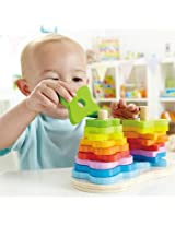 Hape Wooden Double Rainbow Stacker