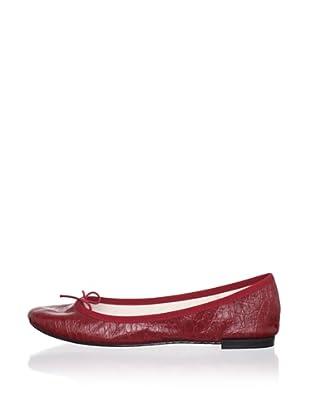 REPETTO Women's BB Croc Ballet Flat (Dark Red)