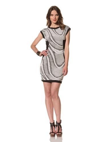 Cut25 Women's Wave Rib Dress (Optic/Jet)