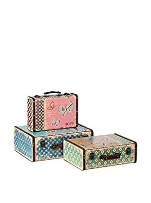 RETRO HOME Set Cofre 3 Uds. Butterfly Multicolor