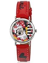 Disney Analog Multi-Color Dial Children's Watch - 3K0384U-MK (RED)