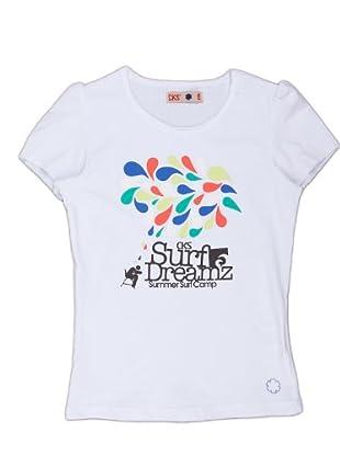 Naf Naf Chevignon Camiseta Print (blanco)