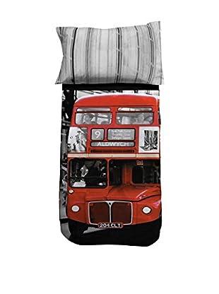 13 Casa Juego de Edredón Londonbus A1 Multicolor