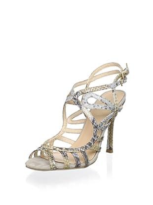 Menbur Women Strappy Evening Sandal (Silver)