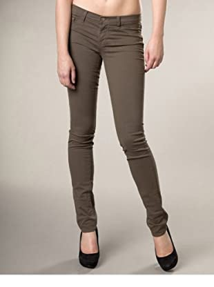 J Brand Hose Japanese Twill Low Rise Pencil Leg (Khaki)