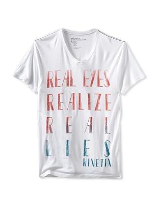 Kinetix Men's Real Eyes V-Neck Tee (White)