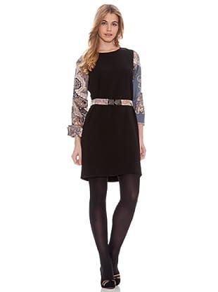 Vilagallo Vestido Combinado (Negro)