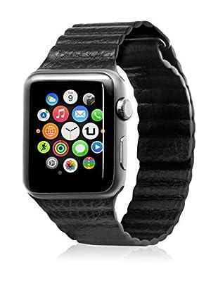 UNOTEC Uhrenband für Smartwatch Segment Apple Watch 42 mm schwarz