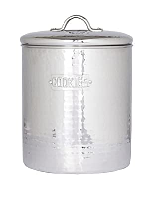 Old Dutch International Stainless Steel Hammered 4-Qt. Cookie Jar with Fresh Seal Cover