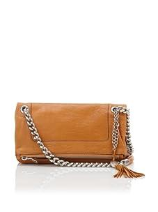 Olivia Harris Women's Zip Fold-Over Shoulder Bag (Russet)