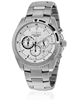An8010-55A Silver/White Chronograph Watch CITIZEN