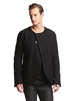 Alexandre Plokhov Men's Collarless Jacket (Black)