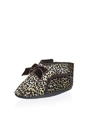 Cienta Kid's Slipper with Bow (Leopard)