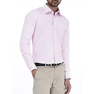 Genesis Pink Striped Men Shirt - 11GCSH26178