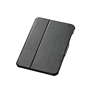 【クリックで詳細表示】ELECOM ソフトレザーカバー docomo ARROWS Tab F-01D フラップ付き ブラック TBD-F01PLFBK: パソコン・周辺機器