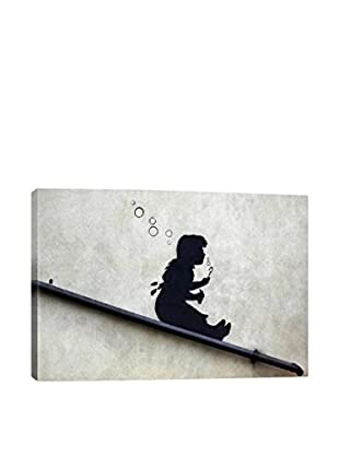 Banksy Bubble Girl Gallery Wrapped Canvas Print