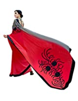Shoppingover partywear net saree in Red Color