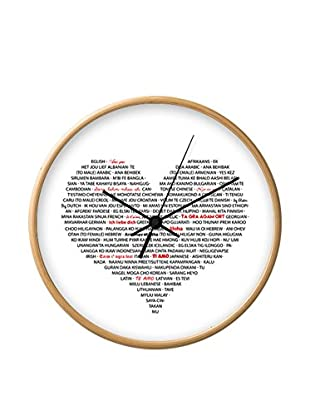 Contemporary Kitchen Reloj De Pared I Love You trasparente