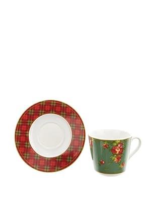 Creatable 166037 British Style 6-er Set Kaffeetasse 20 cl + Untertasse 14 cm