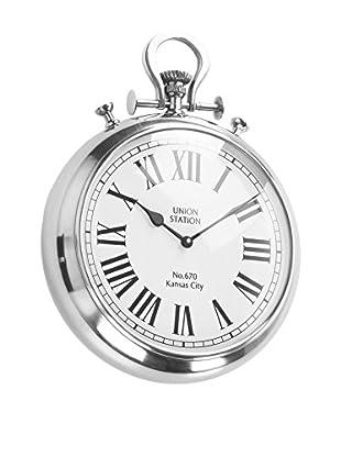 Home Ideas Reloj De Pared Orologio Cipolla Silver Metálico