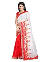 Vibes Women's Bhagalpuri Art Silk Saree,With Blouse (S54-VBK188_Red)
