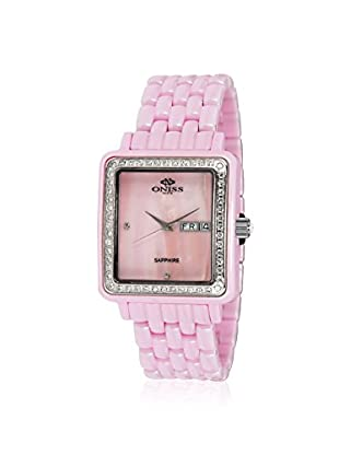 Oniss Women's ON7700-L/PK/PK/WT Finesse Ceramic Collection Pink Watch