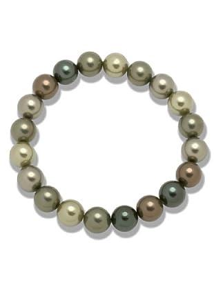 Perldor Armband Muschelkernperlen schwarzgrün/tahiti 60650071