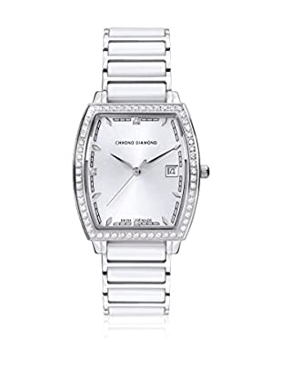 Chrono Diamond Quarzuhr Woman 10310 Leandra weiß