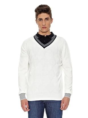 Carrera Jeans Jersey Pico Algodón (Blanco)