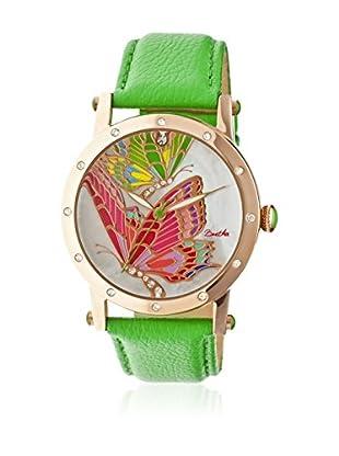 Bertha Uhr mit Japanischem Quarzuhrwerk Isabella grün 41 mm