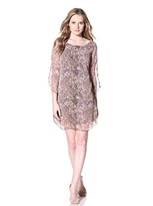 PJK Patterson J. Kincaid Women's Spotted Coronelle Connon Shift Dress (Pink Multi)