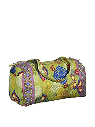 Home Essentials and Beyond Atousa Large Duffel Bag, Yellow/Pink