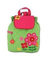 Stephen Joseph Girls' Quilted Backpack, Flower, 12x 13.5