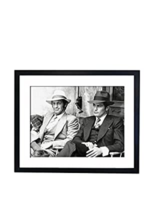 Mazali - Culture Décor Wandbild Jean-Paul Belmondo And Alain Delon