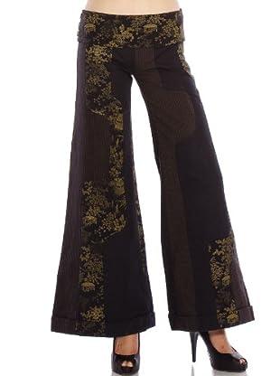 Custo Pantalón (Negro / Marrón)