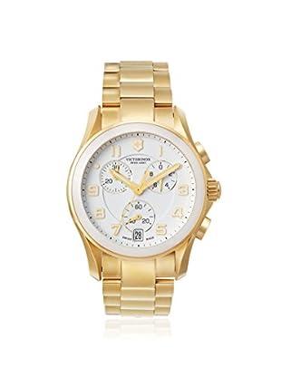 Victorinox Swiss Army Men's 241537 Chrono Classic Ceramic Gold/White Stainless Steel Watch