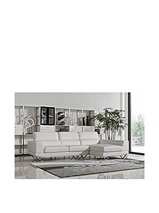 DG Casa Morgan Sectional Sofa Right Facing Chaise, White