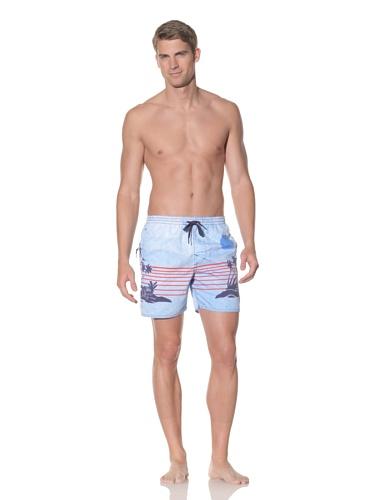 Rhythm Men's Sunset Jam Swim Short (Blue)