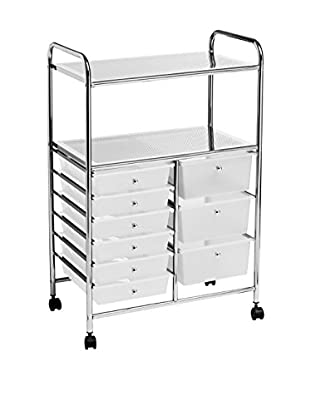 Home Office Carrito Trolley Blanco