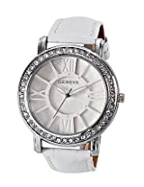 Geneva White Leather Analog Women Watch GL 70