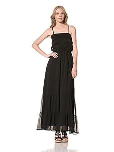 Ceci Women's Layered Ruffle Maxi Dress (Black)