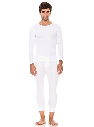 Abanderado Camiseta Manga Larga Caballero Fibra Invierno Pack3 (Blanco)