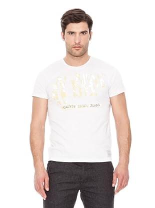 Calvin Klein Jeans Camiseta Texto M / L (Blanco)