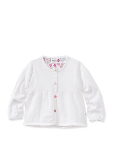 KANZ Baby Colored Button Cardigan (White)
