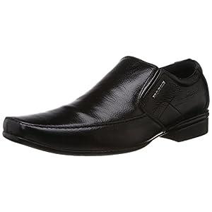 Provogue Men's PV 7040 Black Leather Formal Shoes - 9 UK