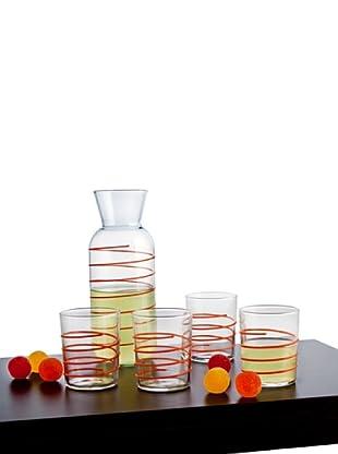 Luminarc Set 5 Piezas Refresco Modelo Gummy Naranja