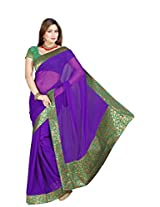De Marca Purple Chiffon M231 Saree