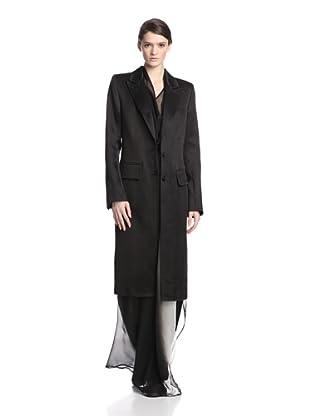 Ann Demeulemeester Women's Chevronne Coat (Black)