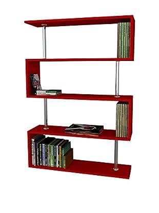 Dekorister Bücherregal Sunrise rot